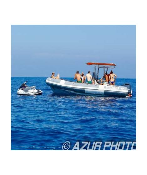 Jet ski tour heading Lérins Islands & Cannes (30 minutes)