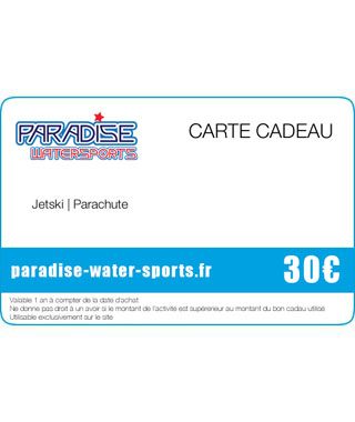 Carte cadeau flyboard sup yoga - paradise-water-sports.fr