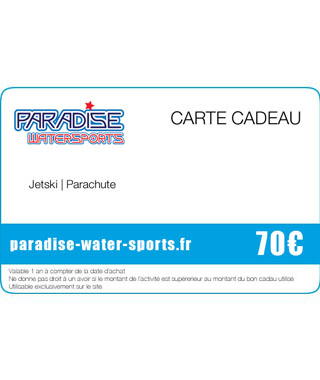 Carte cadeau anniversaire flybord jet ski - paradise-water-sports.fr