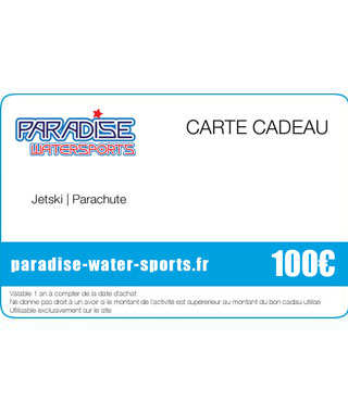 Carte cadeau anniversaire jetski stand up paddle - paradise-water-sports.fr