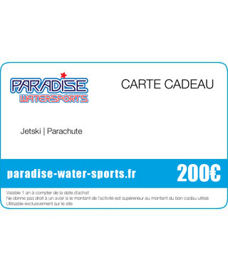 Carte cadeau anniversaire hoverboard flyboard jet ski - paradise-water-sports.fr