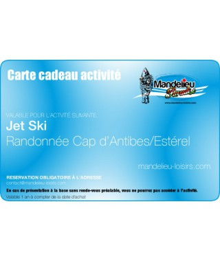 Carte cadeau randonnée jet ski antibes esterel - mandelieu-loisirs.com