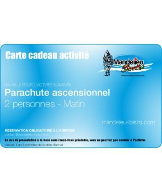 Carte cadeau parachute ascensionnel 2 personnes matin - mandelieu-loisirs.com