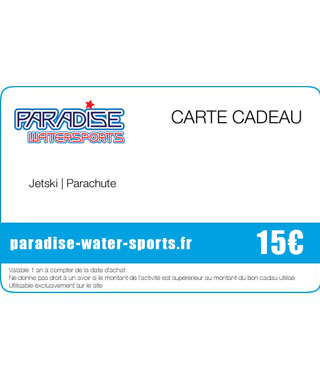 Carte cadeau pour tour de flyboard - paradise-water-sports.fr