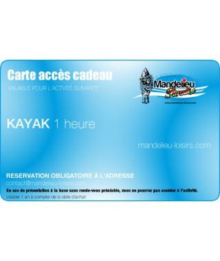 Carte cadeau kayak 1 heure - mandelieu-loisirs.com