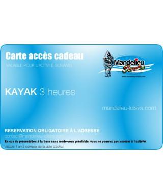 Carte cadeau kayak 3 heures - mandelieu-loisirs.com