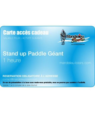 Gift card big stand up paddle tour 1 hour - Mandelieu-loisirs.com