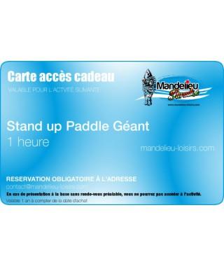 Carte cadeau Stand up géant 1 heure - mandelieu-loisirs.com