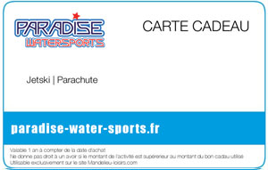 Carte Cadeau Paradise Water Sports