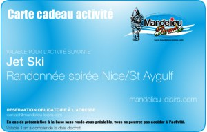 Randonnée jet ski soir Nice/StAygulf