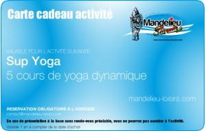 Cours de Sup Yoga - Forfait 5 séances