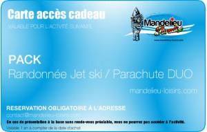 Pack Randonnée matinale petit déjeuner Jet ski et Parachute duo