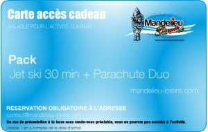 Pack Jet ski 30 minutes et Parachute duo